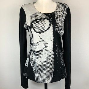 Junya Watanabe Pop-Art Intarsia Portrait Sweater